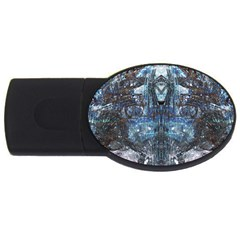 Angel Wings Blue Grunge Texture Usb Flash Drive Oval (2 Gb) by CrypticFragmentsDesign