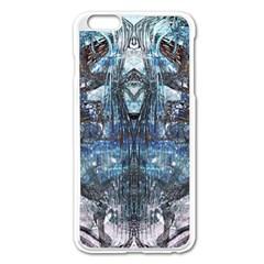 Angel Wings Blue Grunge Texture Apple Iphone 6 Plus/6s Plus Enamel White Case by CrypticFragmentsDesign
