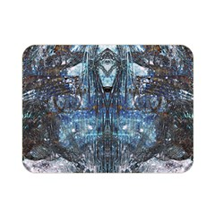 Angel Wings Blue Grunge Texture Double Sided Flano Blanket (mini)  by CrypticFragmentsDesign