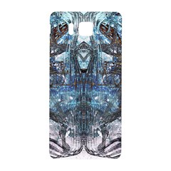 Angel Wings Blue Grunge Texture Samsung Galaxy Alpha Hardshell Back Case by CrypticFragmentsDesign