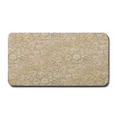 Old Floral Crochet Lace Pattern Beige Bleached Medium Bar Mats by EDDArt