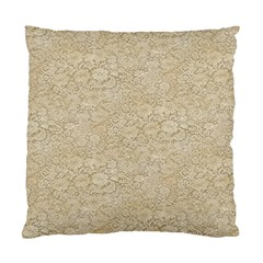 Old Floral Crochet Lace Pattern Beige Bleached Standard Cushion Case (two Sides) by EDDArt