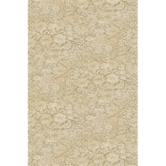 Old Floral Crochet Lace Pattern Beige Bleached 5 5  X 8 5  Notebooks by EDDArt