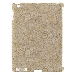 Old Floral Crochet Lace Pattern Beige Bleached Apple Ipad 3/4 Hardshell Case (compatible With Smart Cover) by EDDArt