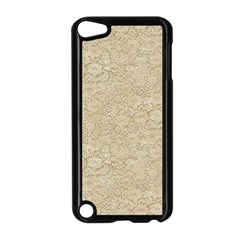 Old Floral Crochet Lace Pattern Beige Bleached Apple Ipod Touch 5 Case (black) by EDDArt