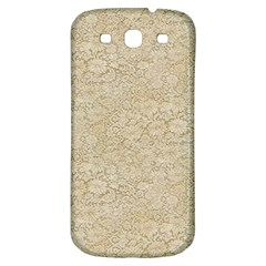 Old Floral Crochet Lace Pattern Beige Bleached Samsung Galaxy S3 S Iii Classic Hardshell Back Case by EDDArt