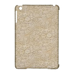 Old Floral Crochet Lace Pattern Beige Bleached Apple Ipad Mini Hardshell Case (compatible With Smart Cover) by EDDArt