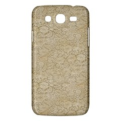 Old Floral Crochet Lace Pattern Beige Bleached Samsung Galaxy Mega 5 8 I9152 Hardshell Case  by EDDArt