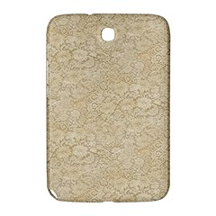 Old Floral Crochet Lace Pattern Beige Bleached Samsung Galaxy Note 8 0 N5100 Hardshell Case  by EDDArt