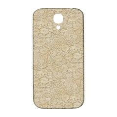 Old Floral Crochet Lace Pattern Beige Bleached Samsung Galaxy S4 I9500/i9505  Hardshell Back Case by EDDArt
