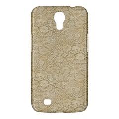 Old Floral Crochet Lace Pattern Beige Bleached Samsung Galaxy Mega 6 3  I9200 Hardshell Case by EDDArt