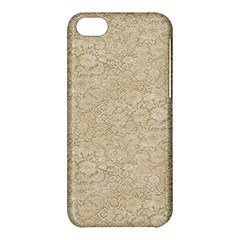 Old Floral Crochet Lace Pattern Beige Bleached Apple Iphone 5c Hardshell Case by EDDArt