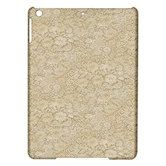 Old Floral Crochet Lace Pattern Beige Bleached Ipad Air Hardshell Cases by EDDArt