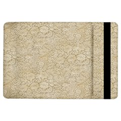 Old Floral Crochet Lace Pattern Beige Bleached Ipad Air Flip by EDDArt