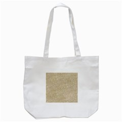 Old Floral Crochet Lace Pattern Beige Bleached Tote Bag (white) by EDDArt