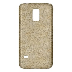 Old Floral Crochet Lace Pattern Beige Bleached Galaxy S5 Mini by EDDArt