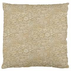 Old Floral Crochet Lace Pattern Beige Bleached Standard Flano Cushion Case (two Sides) by EDDArt