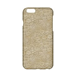 Old Floral Crochet Lace Pattern Beige Bleached Apple Iphone 6/6s Hardshell Case by EDDArt
