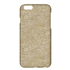 Old Floral Crochet Lace Pattern Beige Bleached Apple Iphone 6 Plus/6s Plus Hardshell Case by EDDArt