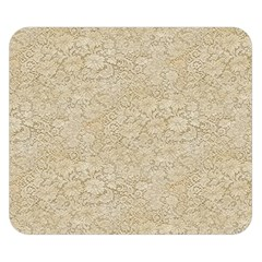 Old Floral Crochet Lace Pattern Beige Bleached Double Sided Flano Blanket (small)  by EDDArt