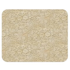 Old Floral Crochet Lace Pattern Beige Bleached Double Sided Flano Blanket (medium)  by EDDArt