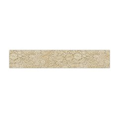Old Floral Crochet Lace Pattern Beige Bleached Flano Scarf (mini) by EDDArt