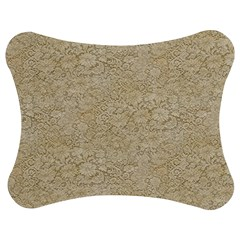 Old Floral Crochet Lace Pattern Beige Bleached Jigsaw Puzzle Photo Stand (bow) by EDDArt