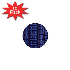 Wrinkly Batik Pattern   Blue Black 1  Mini Buttons (10 Pack)  by EDDArt