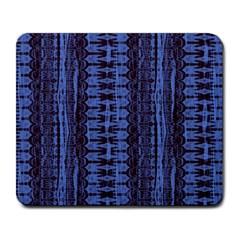 Wrinkly Batik Pattern   Blue Black Large Mousepads by EDDArt