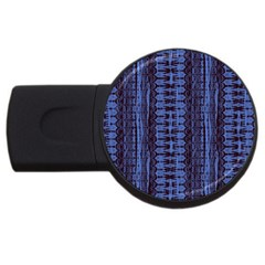 Wrinkly Batik Pattern   Blue Black Usb Flash Drive Round (4 Gb) by EDDArt