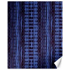 Wrinkly Batik Pattern   Blue Black Canvas 11  X 14   by EDDArt