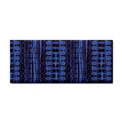 Wrinkly Batik Pattern   Blue Black Cosmetic Storage Cases by EDDArt