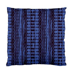 Wrinkly Batik Pattern   Blue Black Standard Cushion Case (two Sides) by EDDArt