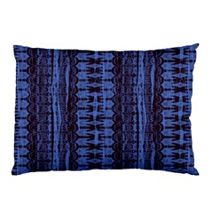 Wrinkly Batik Pattern   Blue Black Pillow Case by EDDArt