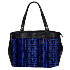 Wrinkly Batik Pattern   Blue Black Office Handbags by EDDArt