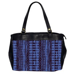 Wrinkly Batik Pattern   Blue Black Office Handbags (2 Sides)  by EDDArt