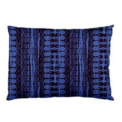Wrinkly Batik Pattern   Blue Black Pillow Case (two Sides) by EDDArt