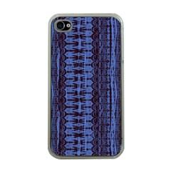 Wrinkly Batik Pattern   Blue Black Apple Iphone 4 Case (clear) by EDDArt