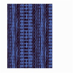 Wrinkly Batik Pattern   Blue Black Large Garden Flag (two Sides) by EDDArt
