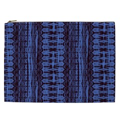 Wrinkly Batik Pattern   Blue Black Cosmetic Bag (xxl)  by EDDArt