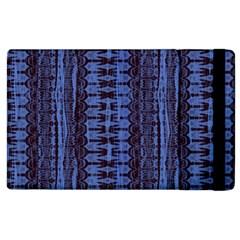 Wrinkly Batik Pattern   Blue Black Apple Ipad 2 Flip Case by EDDArt