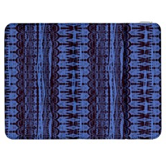 Wrinkly Batik Pattern   Blue Black Samsung Galaxy Tab 7  P1000 Flip Case by EDDArt