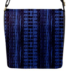 Wrinkly Batik Pattern   Blue Black Flap Messenger Bag (s) by EDDArt