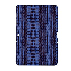 Wrinkly Batik Pattern   Blue Black Samsung Galaxy Tab 2 (10 1 ) P5100 Hardshell Case  by EDDArt
