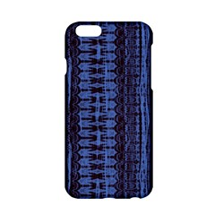 Wrinkly Batik Pattern   Blue Black Apple Iphone 6/6s Hardshell Case by EDDArt