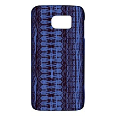Wrinkly Batik Pattern   Blue Black Galaxy S6 by EDDArt