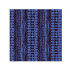 Wrinkly Batik Pattern   Blue Black Small Satin Scarf (square) by EDDArt
