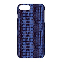 Wrinkly Batik Pattern   Blue Black Apple Iphone 7 Plus Hardshell Case by EDDArt