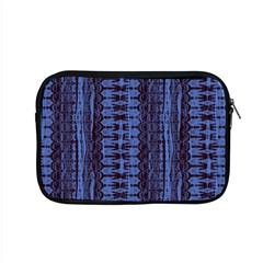 Wrinkly Batik Pattern   Blue Black Apple Macbook Pro 15  Zipper Case by EDDArt