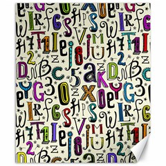 Colorful Retro Style Letters Numbers Stars Canvas 8  X 10  by EDDArt